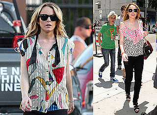 Photos of Lindsay Lohan on the Set Of Labor Pains 2008-07-02 15:30:05