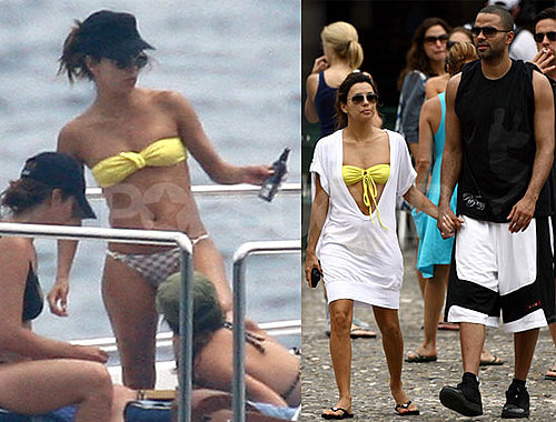 Photos of Eva Longoria in a Bikini on Vacation in Italy with Tony Parker