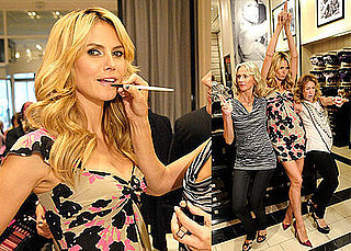 Photos of Heidi Klum With Makeup Artist