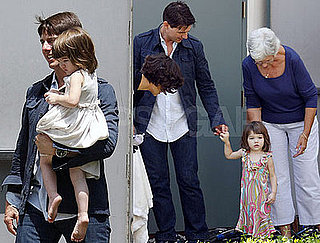 Photos of Celebrity Baby Suri Cruise On Set Of Eli Stone With Tom Cruise and Katie Holmes