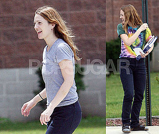 Photos of Drew Barrymore and Ellen Page on Film Set of Whip It!