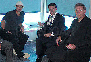 Photo of Brad Pitt With Nice Mayer Christian Estrosi and Angelina's Doctor Michel Sussmann