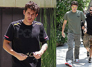 Photos of John Mayer Boarding His Tour Bus