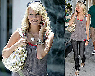 Photos of Carrie Underwood Giving Homeless Woman Money in Beverly Hills