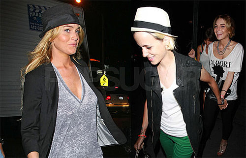 Photos of Lindsay Lohan and Samantha Ronson Holding Hands in NYC