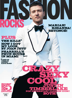 Photos of Justin Timberlake on the Cover of Fashion Rocks