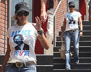 Photos of Halle Berry In Barack Obaba Tee0Shirt