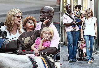 Photos of Heidi Klum and Seal With Their Kids on Vacation in Rome