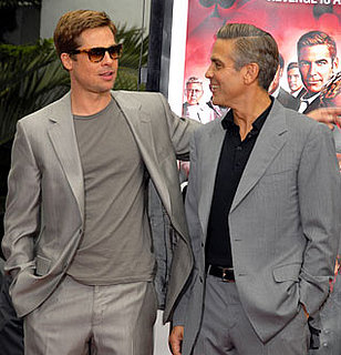 Photo of Brad Pitt and George Clooney Who Are Expected to Open Venice Film Festival With Their Burn After Reading Movie