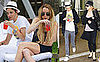 Photos of Lindsay Lohan and Samantha Ronson Drinking by the Pool in Miami