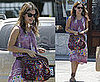 Photos of Rachel Bilson in Gladiator Sandals and a Purple Dress in LA