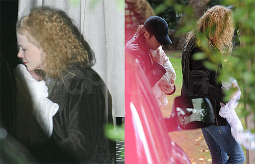 Photos of Nicole Kidman Holding Baby Sunday Rose in Australia