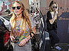 Photos of Lindsay Lohan Shopping in LA in Vintage T-Shirt