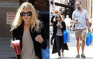 Photos of Ashley Olsen Wearing a Winter Coat During NYC Summer