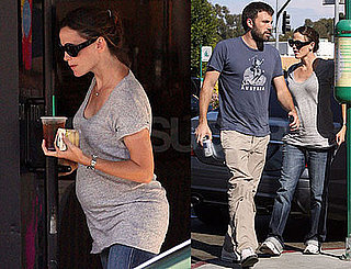 Photos of Very Pregnant Jennifer Garner at Starbucks
