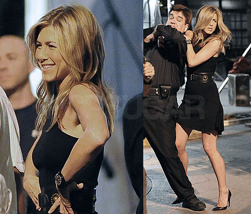 Photos of Jennifer Aniston Filming 30 Rock With Alec Baldwin