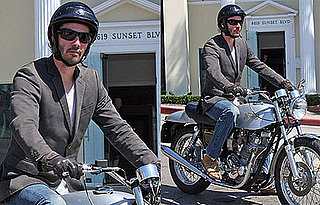 Photos of Keanu Reeves Riding His Motorcycle in LA