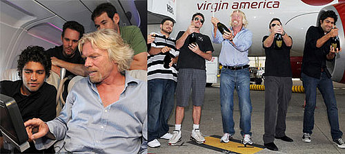 Photos of the Cast of Entourage Flying Virgin America