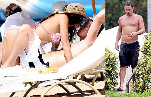 Photos of Shirtless Channing Tatum in Hawaii With Fiance Jenna Dewan in A Bikini