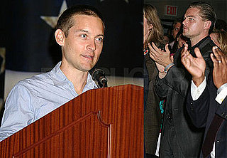 Photos of Leonardo DiCaprio and Tobey Maguire at the Service Nation Summit at Columbia in NYC