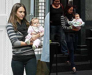 Photos of Jessica Alba with Her Daughter Honor Marie in NYC