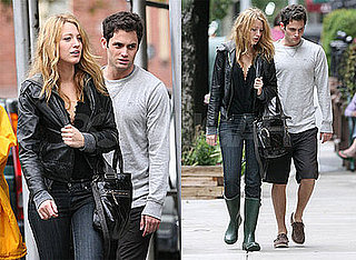 Photos of Blake Lively and Penn Badgley in NYC