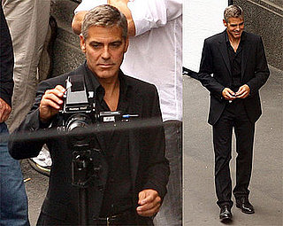 Photos of George Clooney in Milan on Set of Honda Commercial