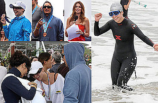 Photos of Jennifer Lopez and Matthew McConaughey at the Malibu Triathlon