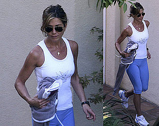 Photos of Jennifer Aniston Looking Perfectly Toned Leaving the Gym in LA