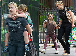 Kate Winslet With Her Kids in New York City