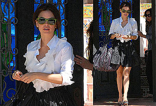 Rachel Bilson Is Ruffled Up and Ready for Work