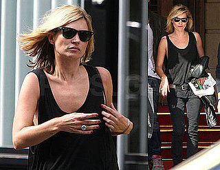 Photos of Newly-Single Kate Moss in Paris