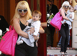 Photos of Christina Aguilera with Max Bratman in Brentwood
