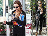 Photos of Lindsay Lohan Carrying 2 Cartons of Cigarettes, Chips, Soda