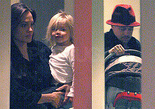 First Photos of Post-Twins Angelina Jolie, Brad Pitt, Shiloh Jolie-Pitt, Zahara Jolie-Pitt Arriving in New York