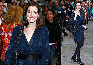Photos and Video of Anne Hathaway on The Late Show with David Letterman Talking about Raffaello Folliero