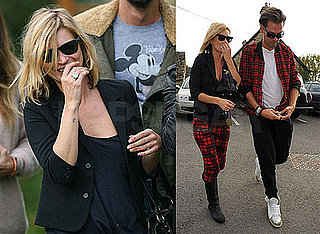 Photos of Kate Moss and Her Friends Out at a Pub in the Cotswolds