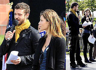 Photos of Jessica Biel and Justin Timberlake Attend the Last Chance for Change Rally in Las Vegas