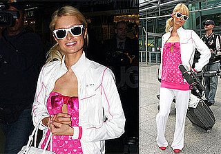 Photos of Paris Hilton at LAX and Heathrow Airports