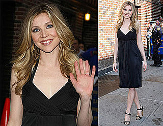 Photos and Video of Sarah Chalke at The Late Show With David Letterman