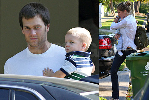 Photos of Tom Brady Post Surgery With His Son John and Gisele