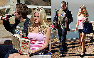 Photos of Heidi Montag and Spencer Pratt In McCain/Palin T-Shirts, Holding Gun, Beer