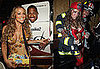 Photos of Nick Cannon and Mariah Carey Dressed up as Firefighters and Milk and Cookies For Halloween Eve Costume Party in NYC