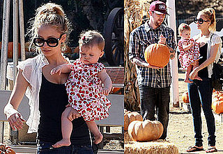 Photos of Nicole Richie, Joel Madden, and Harlow Madden at the Pumpkin Patch