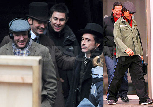 Guy Ritchie, Jude Law, Robert Downey Jr — Who Just Signed on to Two More Iron Man Films — On the Set of Sherlock Holmes