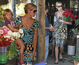 Photos of Heidi Klum Buying Roses With Leni in LA