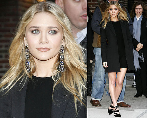 Photos and Video of Ashley Olsen on David Letterman, October 30, 2008
