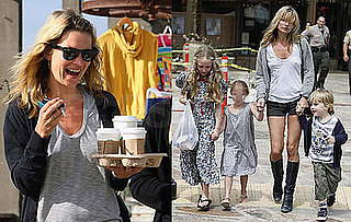 Kate Moss Out in LA with Lila Hack and Kids