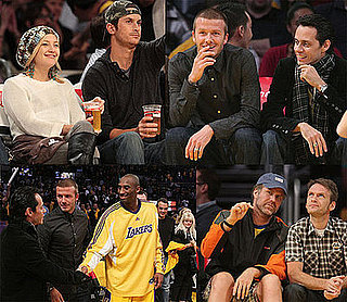 Photos of Kate Hudson, Oliver Hudson, David Beckham, Marc Anthony, Will Ferrell, Jonah Hill, Jack Black at Lakers Game