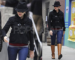Photos of Scarlett Johansson After Voting in NYC
